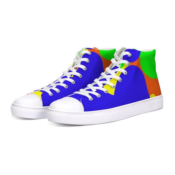 Abstract Camo Hi-Top Sneakers