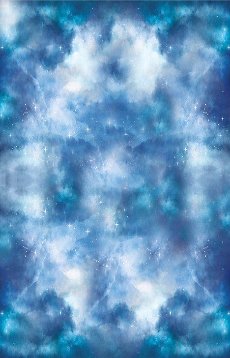 Yarn Tree's Dreamscape Sky Blue with Silver Shimmer Cross Stitch Fabric