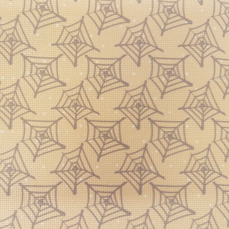 Spiderwebs & Dots - Patterned Cross Stitch Fabric