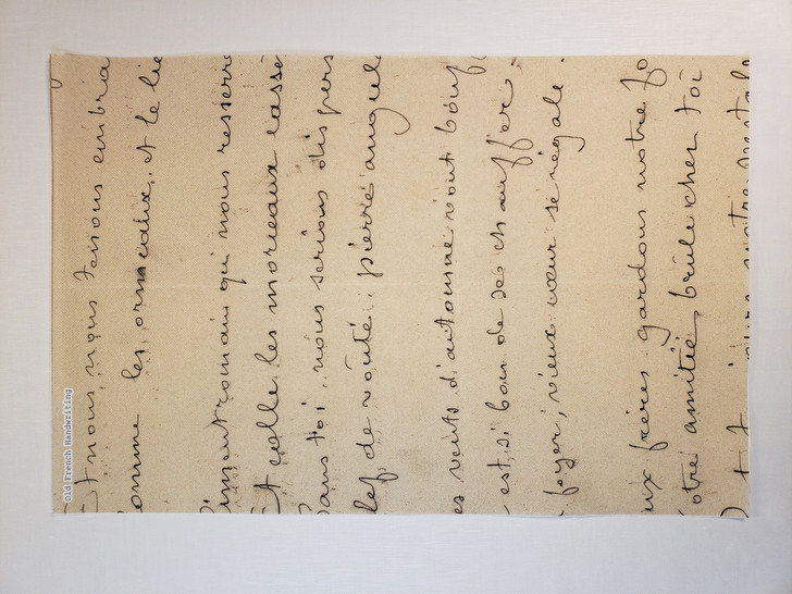Old French Handwriting