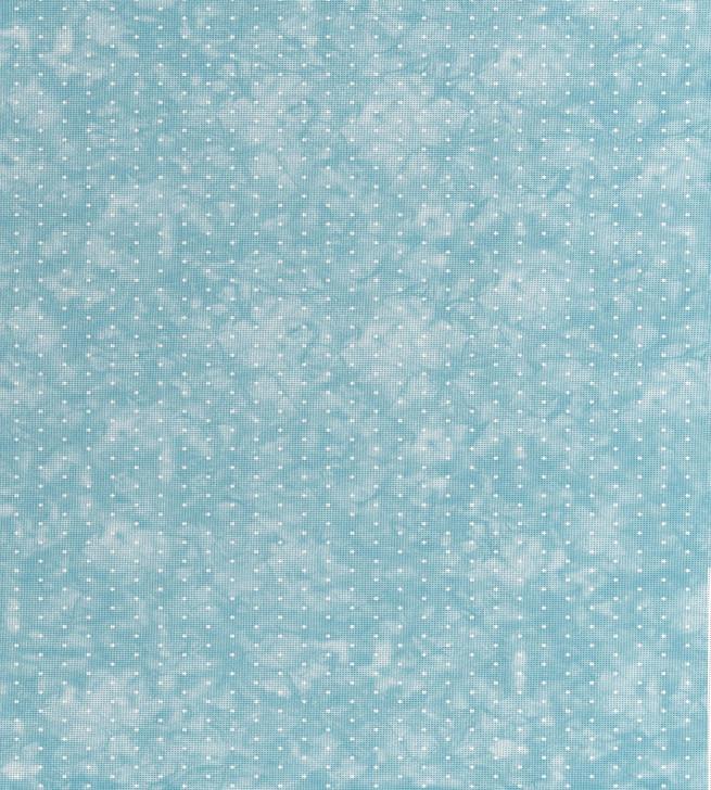 Aqua Dye Effect with Dots Cross Stitch Fabric