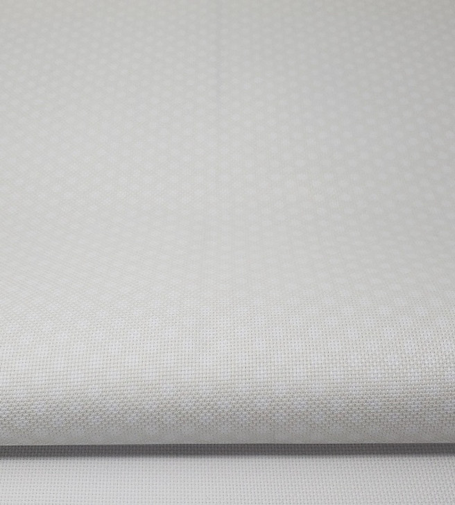 White Polka Dots on Coconut - Patterned Cross Stitch Fabric