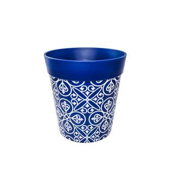 blue lattice medium 22cm indoor/outdoor pot