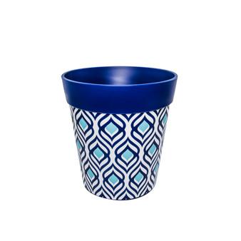 blue peacock medium 22cm indoor/outdoor pot