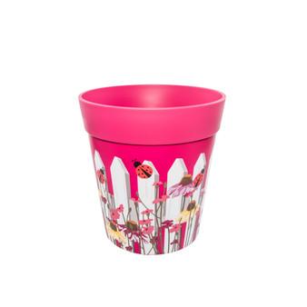 pink picket fence medium 22cm indoor/outdoor pot