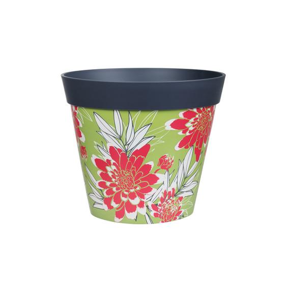 floral plastic large 25cm indoor/outdoor pot