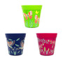 set of 3 small blue green and pink 15cm indoor/outdoor pots