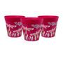 set of 3 small 'pink dragonfly' 15cm indoor/outdoor pots