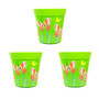 set of 3 small 'bright green butterfly' 15cm indoor/outdoor pots