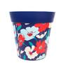 blue trailing floral medium 22cm indoor/outdoor pot