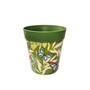 green plastic 'butterfly palms' pattern, medium 22cm indoor/outdoor pot