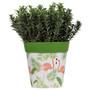 green flamingo medium 22cm indoor/outdoor pot