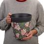 grey bamboo floral medium 22cm indoor/outdoor pot