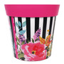 pink 'watercolour floral' large 25cm indoor/outdoor pot