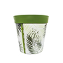dark green plastic, fern pattern, large 25cm indoor/outdoor pot