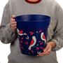 blue 'bird placement' large 25cm indoor/outdoor pot