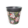 grey bamboo floral, large 25cm indoor/outdoor pot