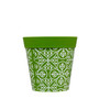 set of 3 small green 'maroc tile' 15cm indoor/outdoor pots