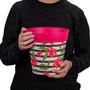 Hum Flowerpots, set of 3 pink plastic hibiscus stripe, colourful planters indoor/outdoor pots 22cm x 22cm