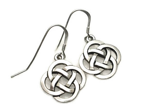Celtic Open Round Knot Earrings