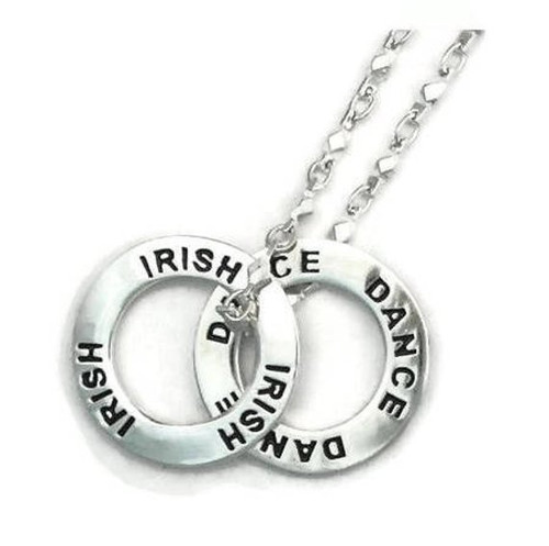 IRISH DANCE Message Ring Necklace