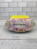 Front view of the 6-Egg iMagic Custom Carton Label - Sweet Treats attached to paper pulp carton sitting on marble counter