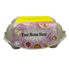 6-Egg iMagic Custom Carton Label - Sweet Treats front view with white background