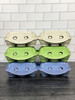 All three iMagic2® Max - 6-Egg Super Jumbo Flat Top-Paper Pulp Carton color options stacked on top of each other in two rows