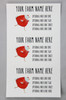 Medium Custom Carton Label Red Sweater Chicken