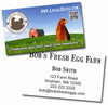Front and back of mock farmer business card