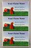 Medium Custom Carton Label Barn & Chicken