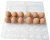 Jumbo Cell Split 6-Egg Clear Plastic Carton