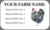 Medium Custom Carton Label Watercolor Wyandotte Chicken