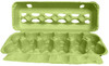 Lime Tint 12-Egg View Style Paper-Pulp Colored Carton