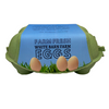 """Customized Professional Egg Carton Label 2.6"""" x 10"""" - Red Barn Farm with Black Background"""