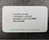 Example of a local hens business card with farm information on the back side.