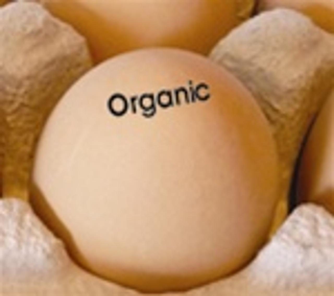 Egg Stamp - Text - Organic