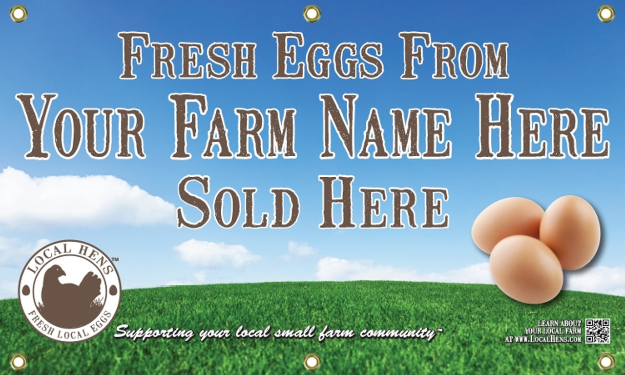 Local Hens Banner - Large Size