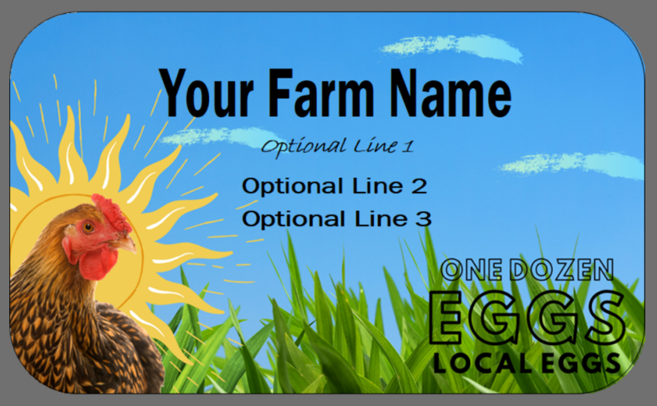 Custom Carton Label 2 x 4 - Chick in Hand