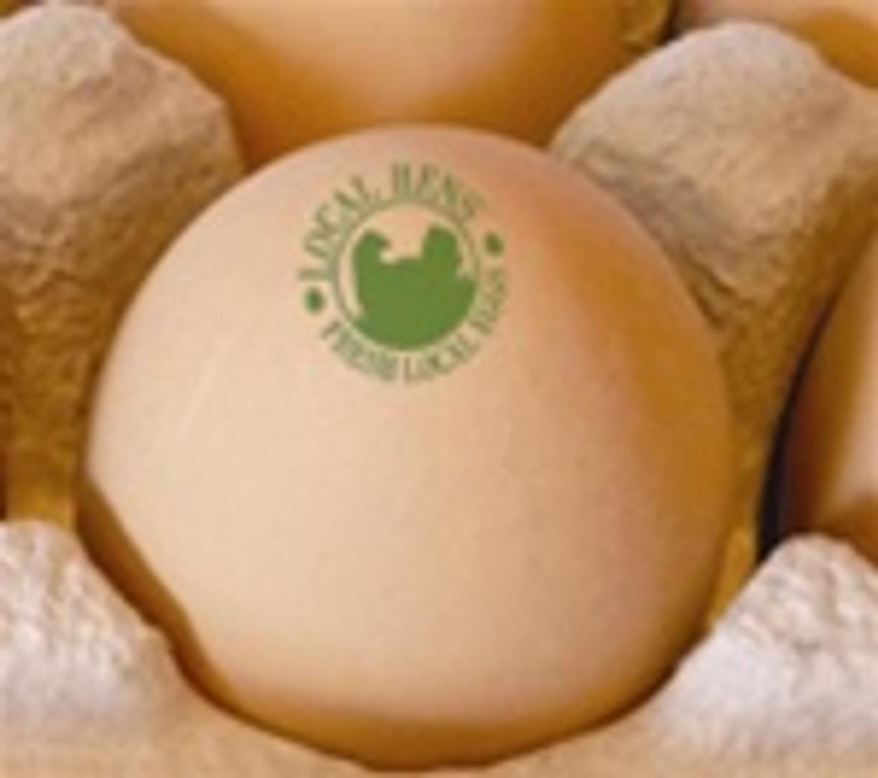 Local Hens Egg Stamp - Logo - (40)