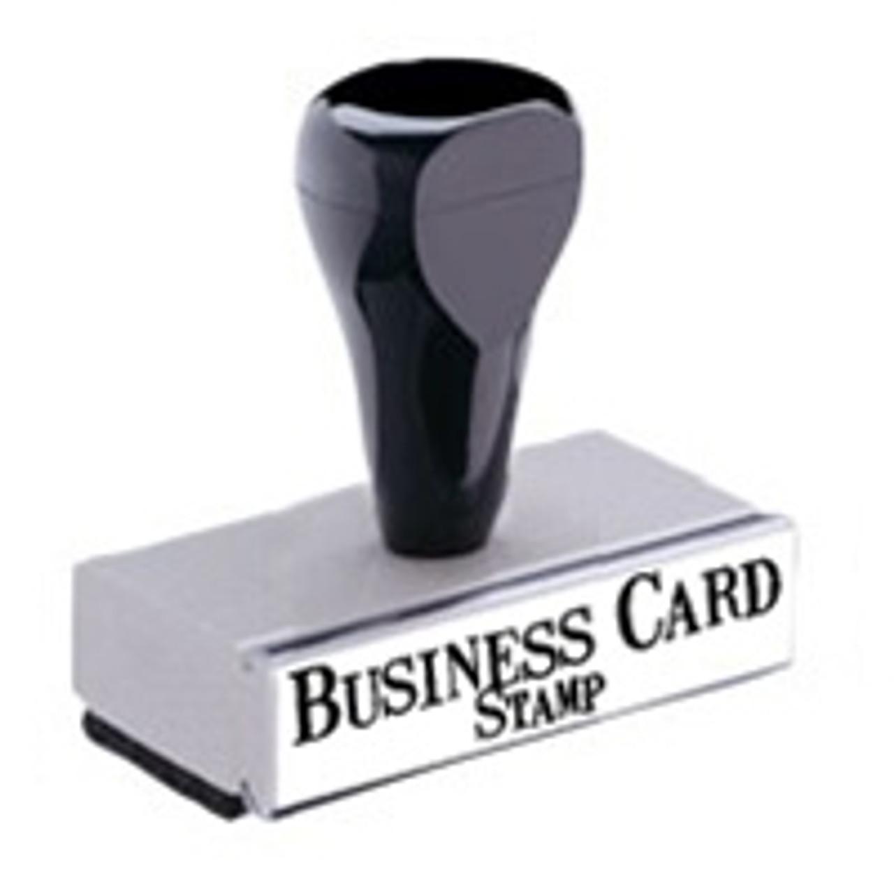 Custom Business card Stamp knob handle
