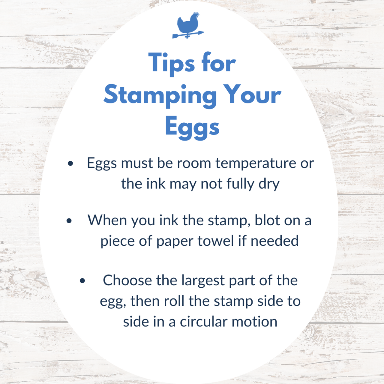 tips for stamping directly onto your eggs