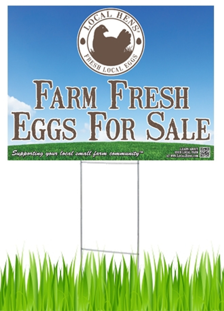 Announce your farm fresh eggs for sale with these eye-catching signs!
