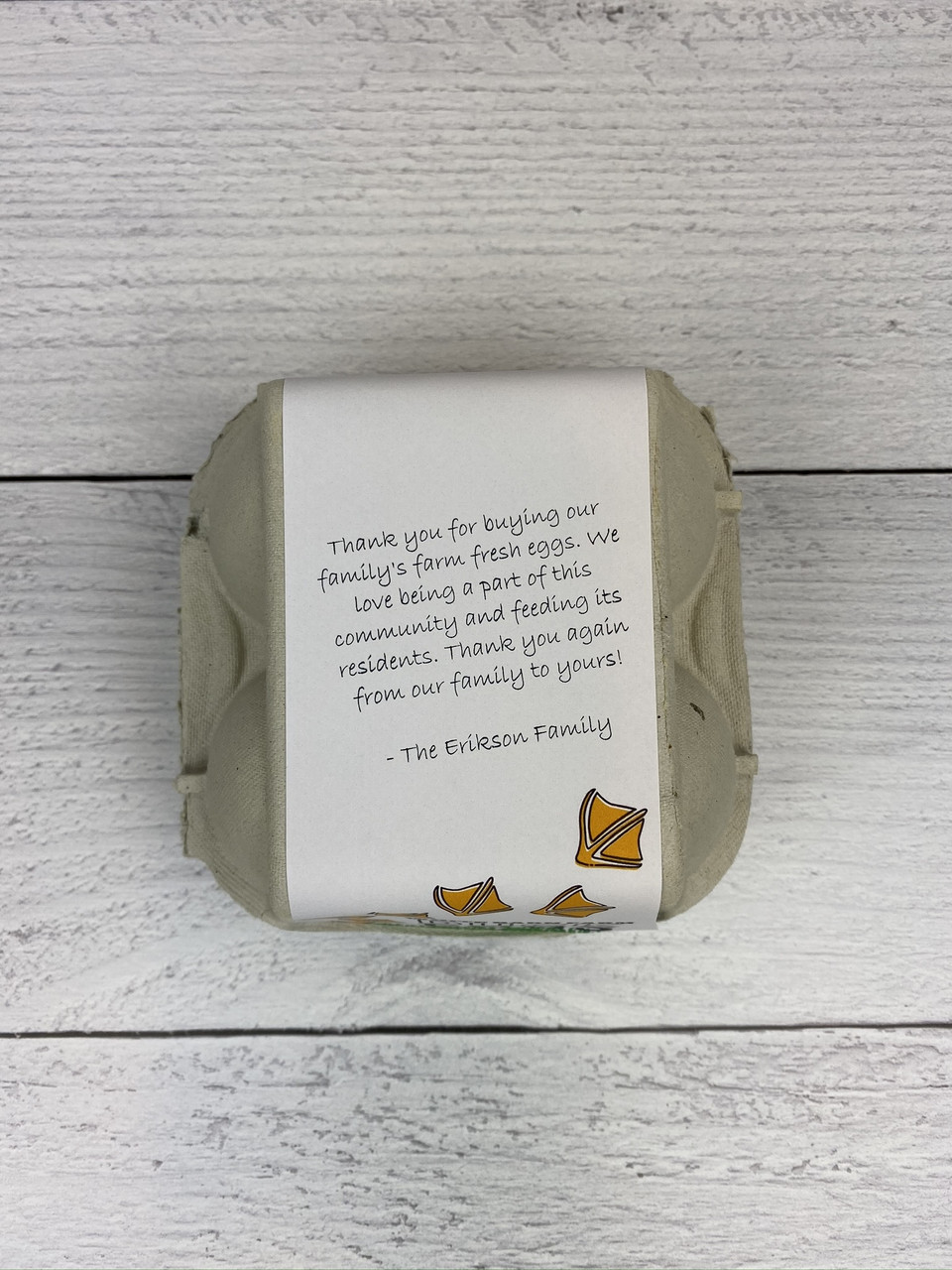 4-Egg iMagic Custom Carton Label - Duck Tracks