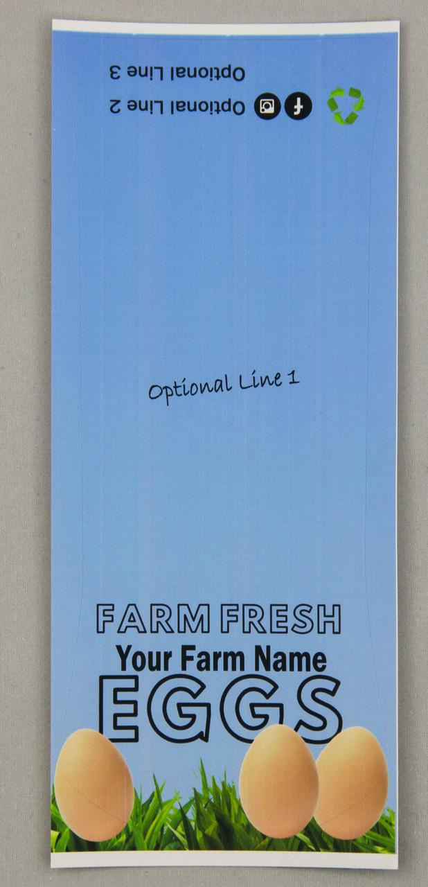 Customizable text on top and bottom of carton