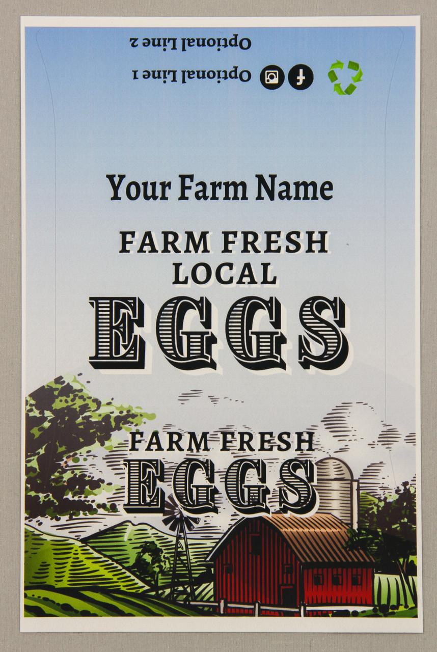 6-Egg iMagic Custom Carton Label - Barn & Silo