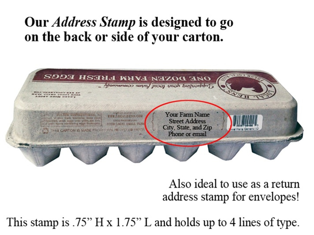 Name & Address for Carton Back: Self Inking
