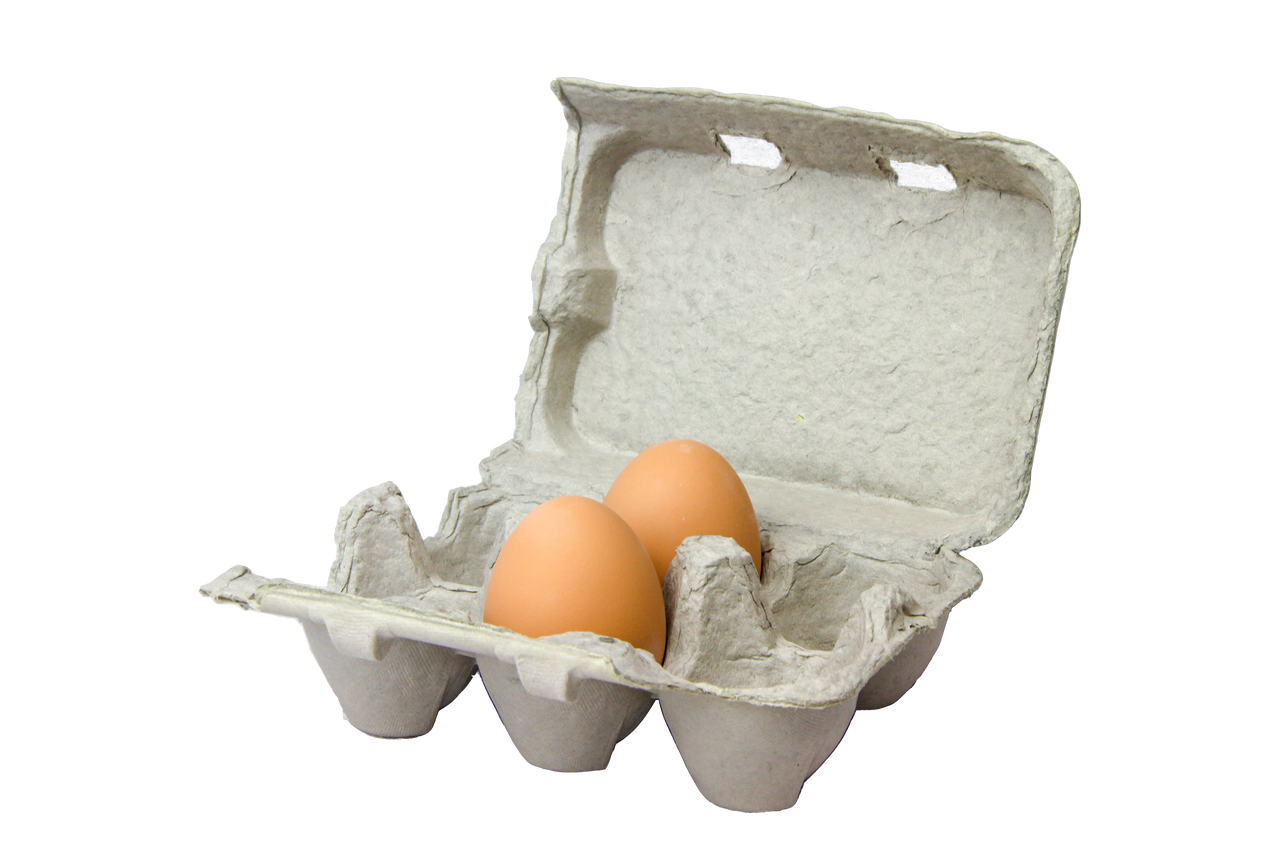 Ceramic Nest Eggs - Brown
