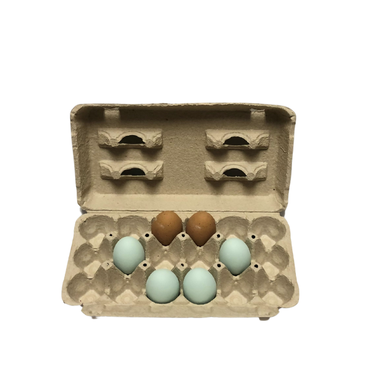 Blank 18-Egg View Style Paper-Pulp Carton
