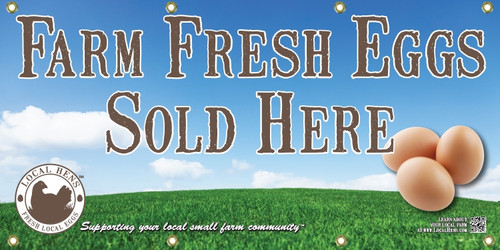 Local Hens Banner - Jumbo Size